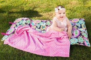Pretty Paisley nap mat 7